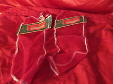 2 Vintage Mesh Netting Christmas Stockings