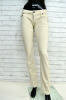 Pantalone LIU-JO Donna Taglia Size 26 Jeans Pants Trousers Woman Beige Regular