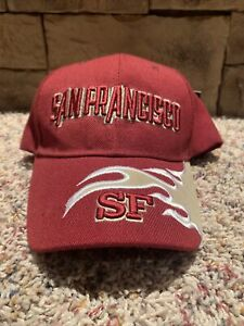 Lanza San Francisco 49ers Hat Cap, NFL, Football, Adjustable, NEW, MADE IN USA