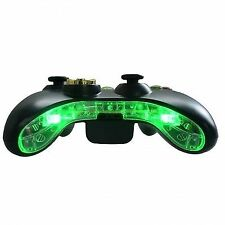 Xbox 360 Pre-wired LED Bottom Bumper Bar Mic Plate Insert Mod Kit (green)