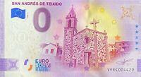 BILLET 0  EURO SAN ANDRES DE TEXEIDO ANNIVERSARY ESPAGNE 2020  NUMERO DIVERS