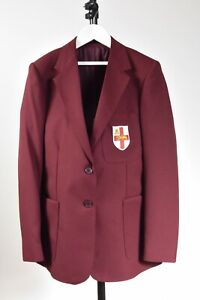 School Blazer Burgundy with embroidered St George Shield Girls Various Sizes