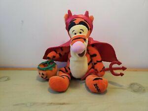 "Vintage Disney Store Winnie the Pooh Halloween Devil Tigger 9"" Bean Bag Plush"