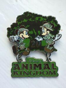 DISNEY WDW ANIMAL KINGDOM MICKEY & MINNIE MOUSE 20TH ANNIVERSARY DANGLE PIN