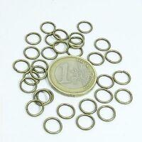 140 Anillas Gruesas Abiertas 8x1,6mm T354E Open Jump Rings Anneau Anello Perlen