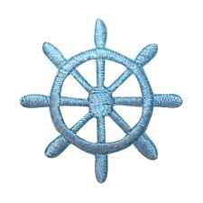 ID 2364B Ship Captain Steering Wheel Patch Boat Embroidered Iron On Applique