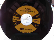 GENE SULLIVAN 45 WASH YOUR FEET BEFORE YOU COME TO BED / PASS THE BISCUTS