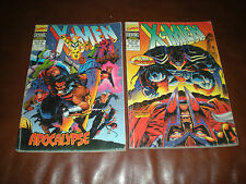 X-MEN VERSION INTEGRALE - LOT 2 DOUBLES ALBUMS N°11 ET 12 TOMES 21 A 24 - SEMIC