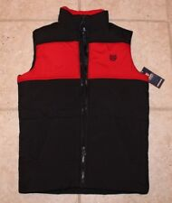 NWT Chaps Boys Medium Size 10 - 12 Polo Black Red Winter Zip Front Vest Jacket