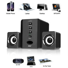 USB 2.1 Computer Speakers System Desktop PC Laptop Stereo Audio Player Subwoofer
