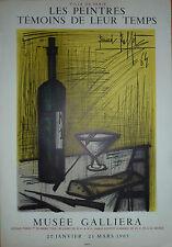 BERNARD BUFFET AFFICHE LITHO - MUSEE GALLIERA  - MOURLOT SORLIER 1965