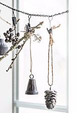 XMAS Dekoration Mini  Zapfen Metall IB Laursen Vintage Grau Zink Weihnachten