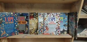 Lot of 5 of I SPY BOOKS A Book of Picture Riddles Hardcover - Random