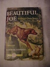 HB Book, BEAUTIFUL JOE, A DOG'S OWN STORY by Saunders FAMOUS DOG Series