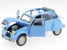 Citroen 2CV 2 CV 4 Ente 1976 azul coche en miniatura Leo 1:24