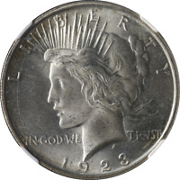 1923-D Peace Dollar NGC MS64 Nice Eye Appeal Nice Luster Nice Strike