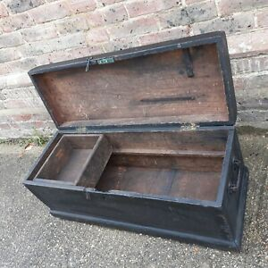 antique wooden tool trunk