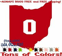 Ohio State Buckeyes! Red Car Truck Vinyl Decal Sticker Wolverines Spartans USA