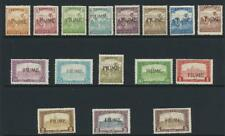 FIUME 1918, VALUES TO 5k MOST SIGNED, VF LH OG Sc#3-6/8-19 CAT$428 (SEE BELOW)