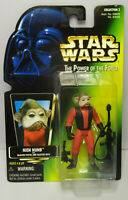 1997  Kenner Star Wars Nien Numb POTF 2 Green Card Japanese Sticker Figure MOC