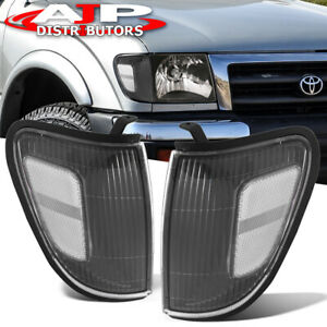 Black Clear Head Lights Corner Turn Signal Lamps For 1998-2000 Toyota Tacoma 4WD