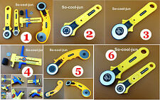6 Kinds RotaryCutterCircleCompassCutter Knife Quilting SewingLeatherTool