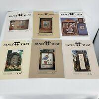 Lot 6 Fanci That Colors Noahs Folk Art Scarecrow Angel Autum Primitive Samplers