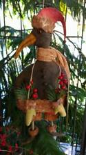 SANTA CROW HANGING DECORATION PRIMITIVE HANDMADE CHRISTMAS WINTER