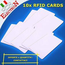 10x RFID CARD TAG 13.56MHz WHITE TESSERA ACCESSO PORTACHIAVI ARDUINO LETTORE KIT