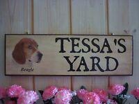 BEAGLE SIGN DOG PLAQUE FUNNY WOODEN DOG SIGN YARD SIGN GATE SIGN BEWARE OF DOG