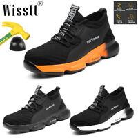 Men's Sneakers Safety Shoes Work Steel Toe Cap Boots Indestructible Bulletproof