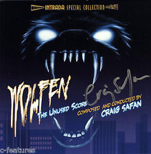 WOLFEN CD Craig Safan AUTOGRAPHED SIGNED Intrada UNUSED SCORE Soundtrack NEW!