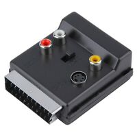 Switchable Scart Male to Scart Female S-Video 3 RCA Audio Adapter Convertor  XB