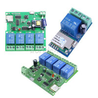 DC/AC 5V/12V/220V WiFi Wireless 1/4 Channel Relay Switch Control For Smart Home