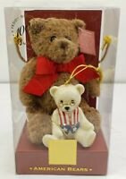 Lenox American Bears Teddy Bear 100th Anniversary Christmas Ornament and Plush