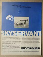 6/1979 PUB DORNIER SKYSERVANT STOL MILITARY AIRCRAFT PARA FLUGZEUG ORIGINAL AD