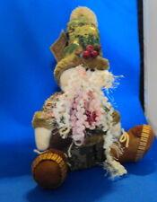 "New 12"" Santa Claus Camo Beard Hat New Christmas Shelf Sitter Camouflage"
