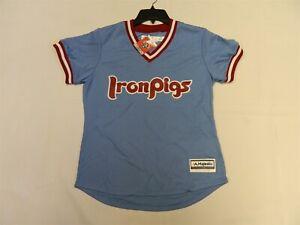 Official Lehigh Valley IronPigs Blue WOMENS Jersey  Philadelphia Phillies XL