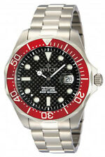 Invicta Men's Pro Diver Black Carbon Fiber Dial Stainless Steel Watch 12565