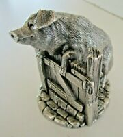 Country Artists Sterling Silver Pig, Birmingham 1994, (Filled)