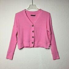 NWT Abercrombie & Fitch Women's Cropped Cable Cardigan Sweater Pink Size XS