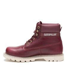 Mens Caterpillar Colorado Burgundy Leather Boots (TGF42) BIG SIZES! RRP £119.99