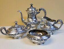 4 Piece Gorham Buttercup Sterling Silver Tea Set
