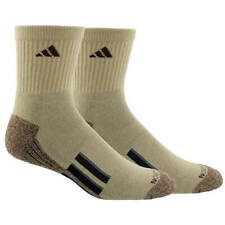 Adidas 2 Pair Men's Climalite Traxion Cushioned Mid-Crew Socks NWT Size 6-12