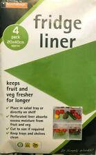 4 x Fridge Drawer Shelf Tray Cabinet Liners Mats Keep Fruit Veg Salad Fresh New