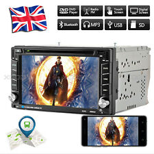 "6.2"" 2 DIN Car DVD CD Player Radio Stereo Head Unit GPS Sat Nav EU + Free Camera"