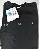 Womens Nike Just Do It Crewneck Therma - Fit Black Oversized Sweatshirt - Medium