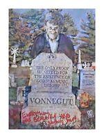 LIMITED PRINT - Kurt Vonnegut Slaughterhouse Five Author Wall Art Painting 12x16