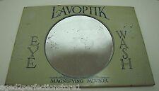 LAVOPTIK EYE WASH Antique Advertising Magnifying Mirror Sign BROWN & BIGELOW Co