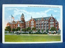 Postcard TX Dallas St Paul's Sanitarium & New Annex